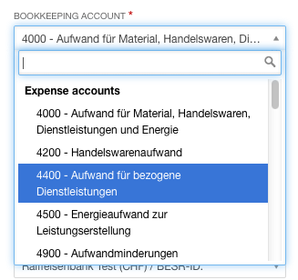 how can i enter expenses bexio support